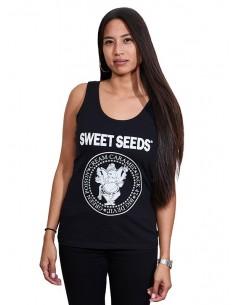 Camiseta Mujer Tirantes Hey Ho Negra