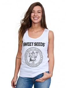 Camiseta Mujer Tirantes Hey Ho Blanca