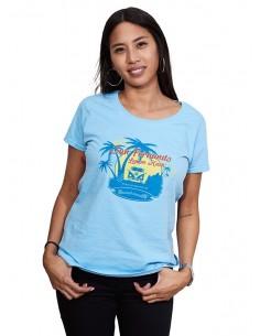 Camiseta Mujer San Fernando Azul Cielo