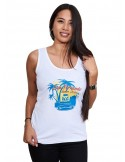 Camiseta Mujer Tirantes San Fernando Blanca