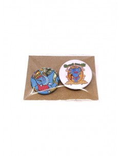 Pack of Elephant badges