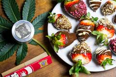 Strawberries with Chocoweed